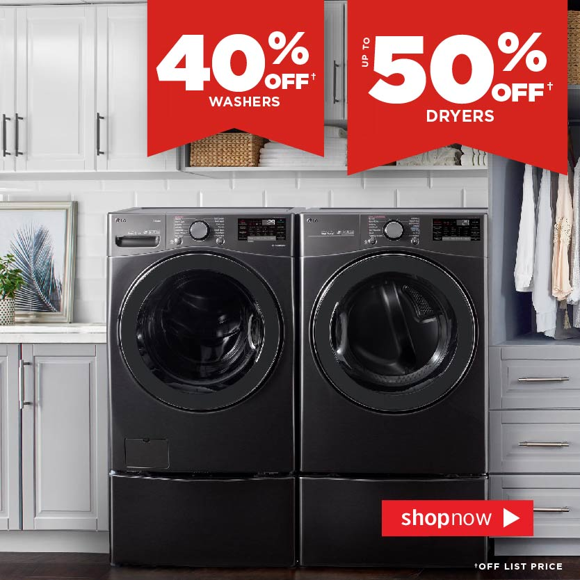 Save on Washers & Dryers