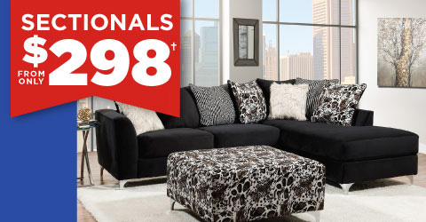 Sectionals from only $298