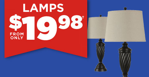 Lamps from only $19.98