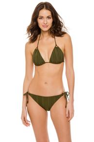 Olive Texture Triangle Bikini