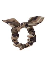 Camo Knotted Bow Scrunchie