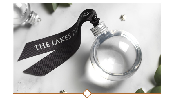 Complimentary Lakes Gin Bauble