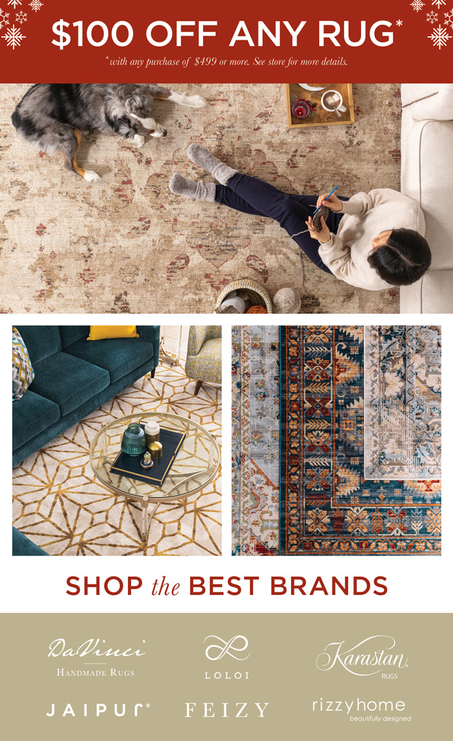 $100 Off any Rug