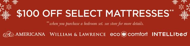 $100 of Select Mattresses