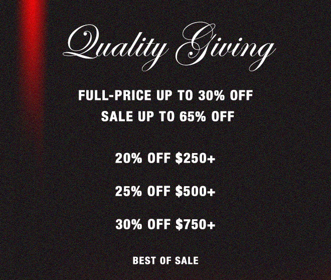 Have an Epic Holiday. NO EXCLUSIONS 20% OFF $250+ 25% OFF $500+ 30% OFF $750+ BEST OF SALE