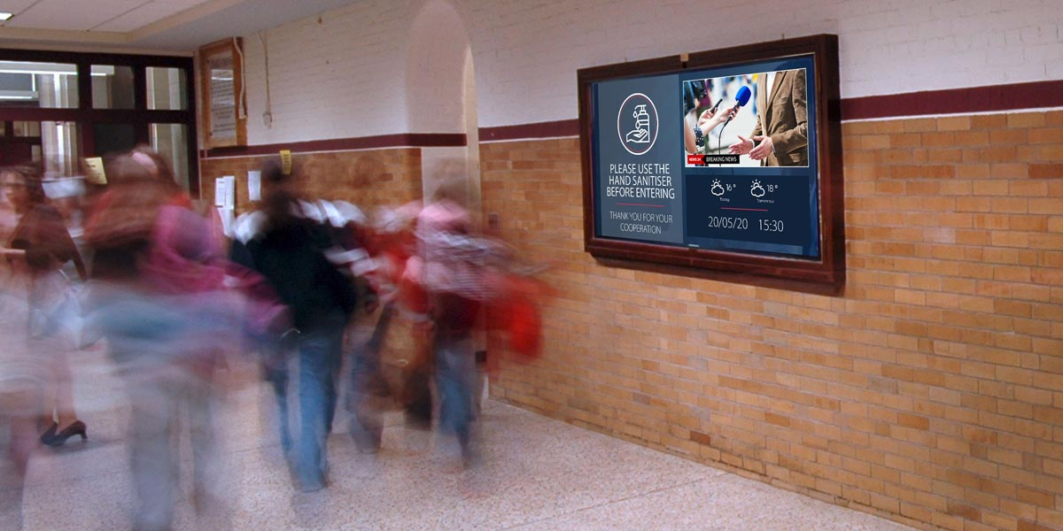 Digital signage can improve campus-wide communications