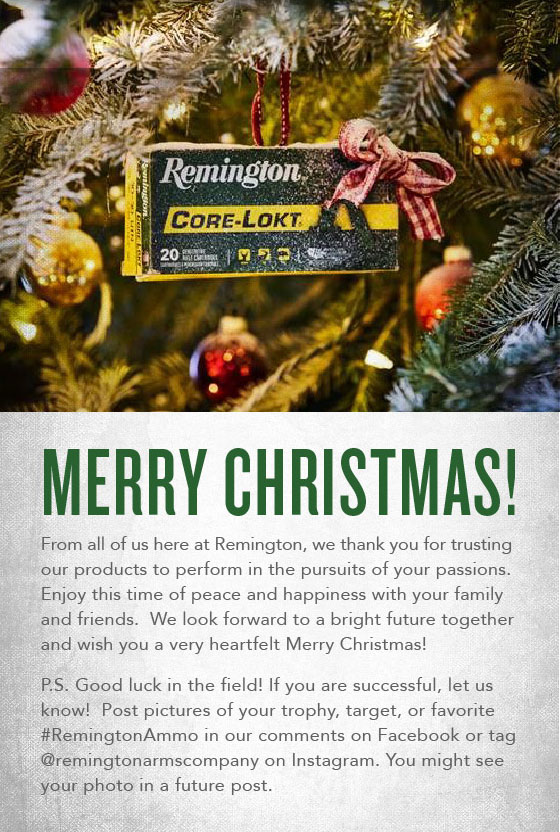 Merry Christmas from Remington!
