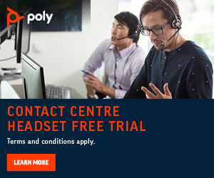 Poly free trial advert