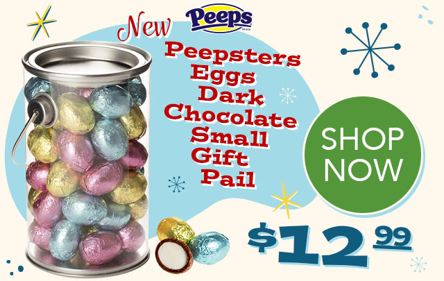 PEEPS Peepsters Eggs Dark Chocolate Small Gift Pail - $12.99 - SHOP NOW