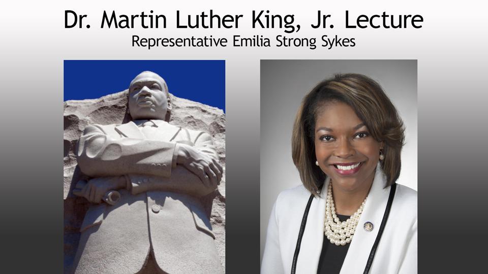 MLK Lecture Representative Emilia Strong Sykes