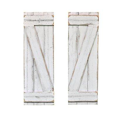 White Barn-Wood Style Window Shutters