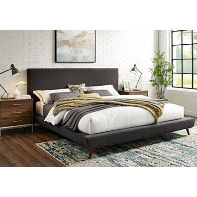 Loft Lyfe Jaxx Platform Bed - Linen | Upholstered | Twin/ Full/ Queen/ King | Inspierd Home
