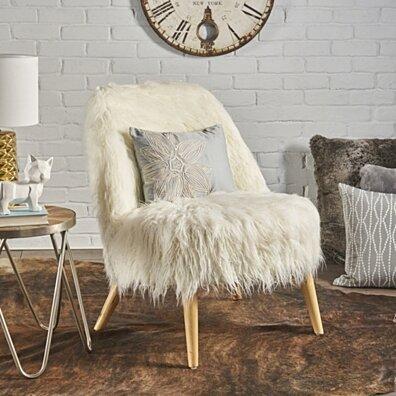 Soho Shaggy Faux Fur Accent Chair