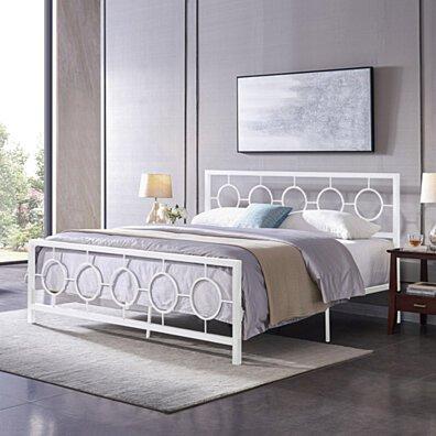Aldrin Modern Iron King Bed Frame