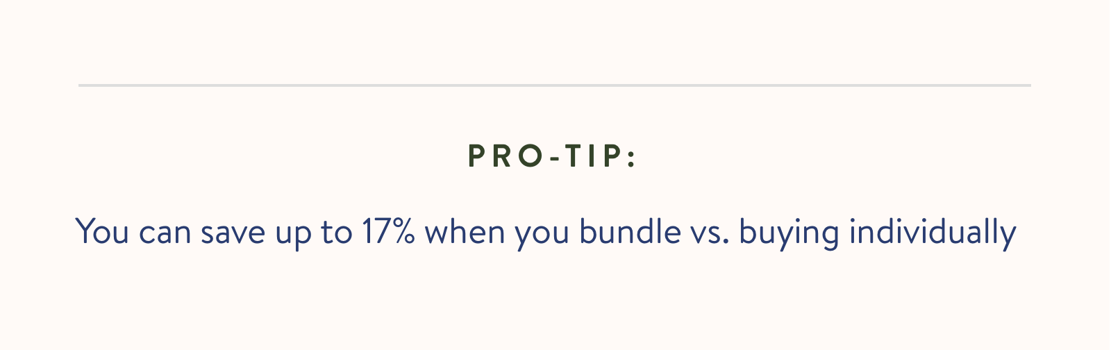 You can save up to 17% when you bundle vs. buying individually