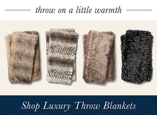Shop Luxury Throw Blankets