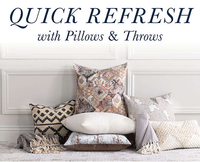 Quick Refresh with Pillows & Throws!