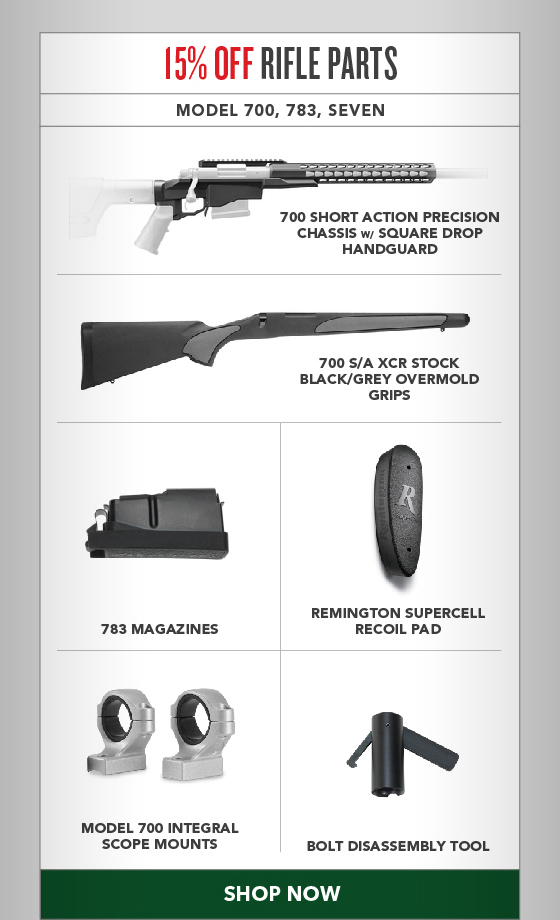 15% OFF All Rifle Parts