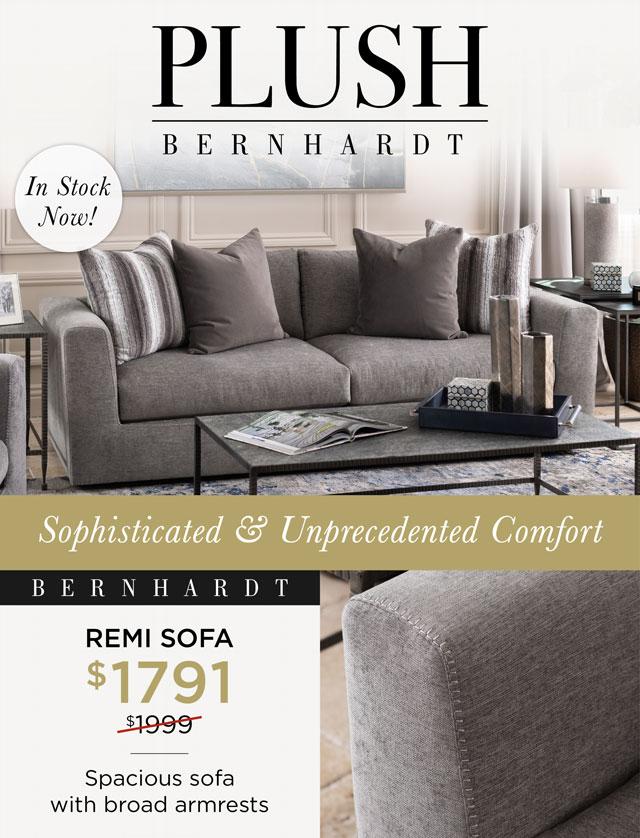 Bernhardt Plush - Remi Sofa - $1791