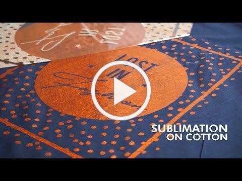 SUBLI FINISHING FOIL for Metallic T-Shirts | Sublimaton on Cotton