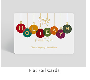 Flat Foil Cards