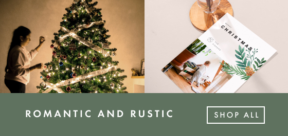 Romantic and Rustic Holiday Cards