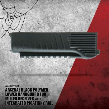 Arsenal Black Polymer Lower Handguard for Milled Receiver with Integrated Picatinny Rail