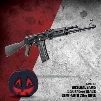 SAM5 5.56x45, with Side Rail, 5.56x45 caliber rifle, comes with a 20 round magazine