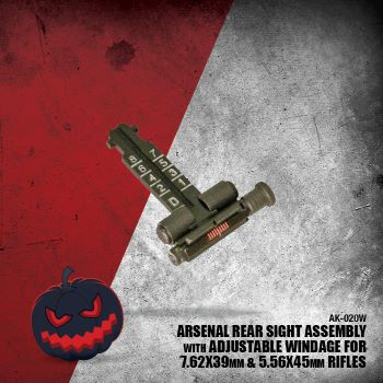Arsenal Rear Sight Assembly with Adjustable Windage for 7.62x39mm and 5.56x45mm Rifles