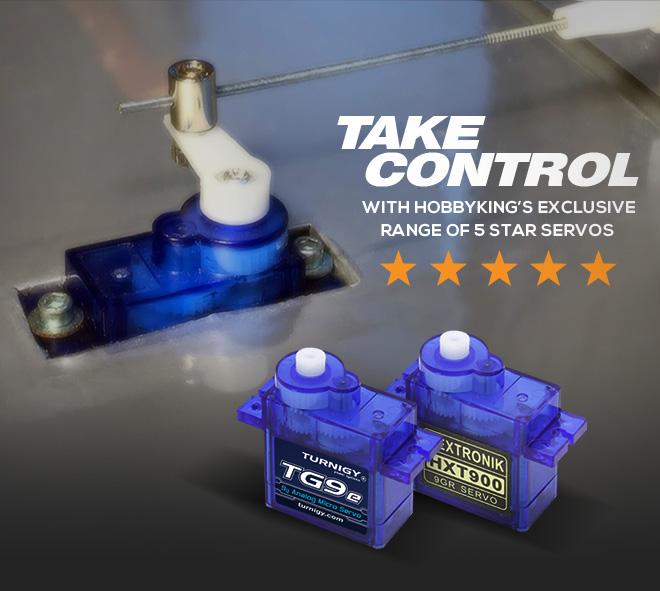 Take Control with HobbyKing's exclusive range of 5 star servos