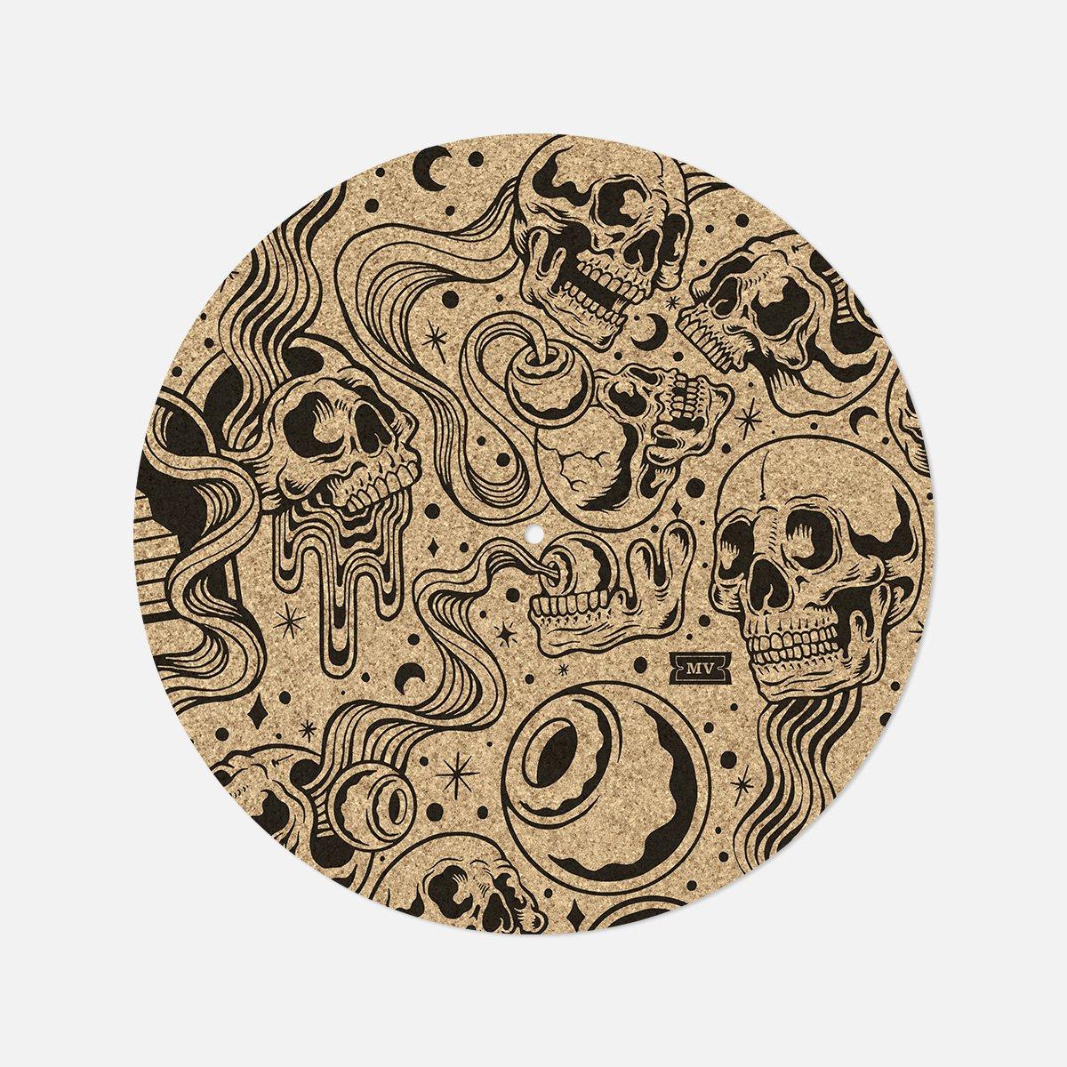 "Melodic Virtue ""Psych Skull"" Cork Slipmat"