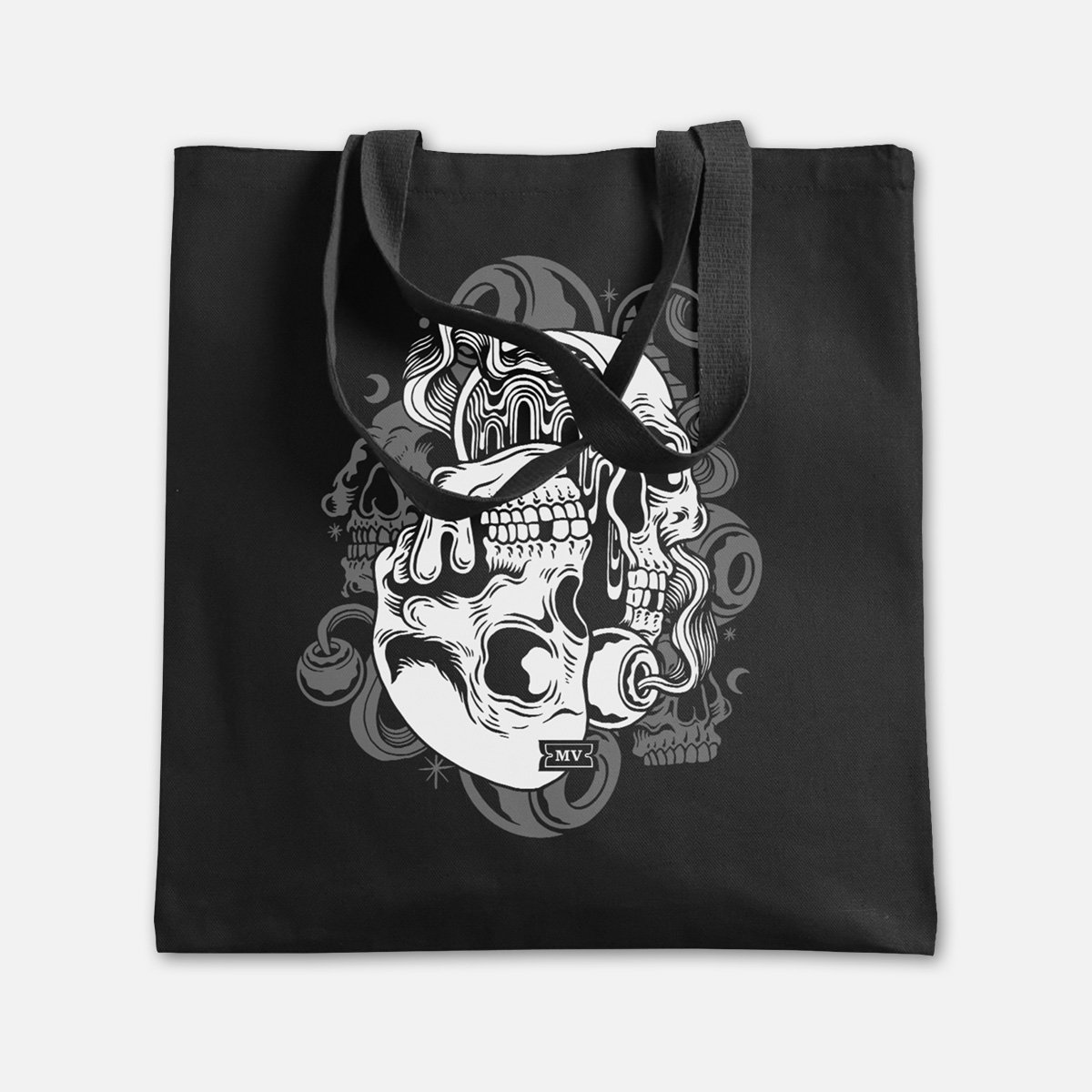 """Melodic Virtue """"Psych Skull"""" Canvas Tote"""