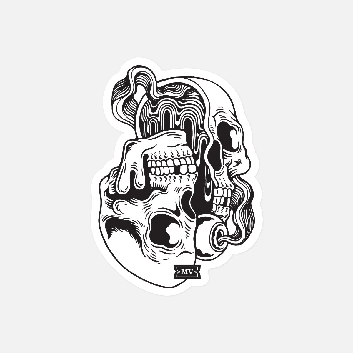 """Melodic Virtue """"Psych Skull"""" Sticker (Pack of 5)"""
