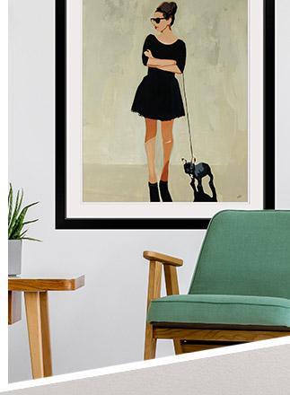 Figurative Art in Contemporary Living Room