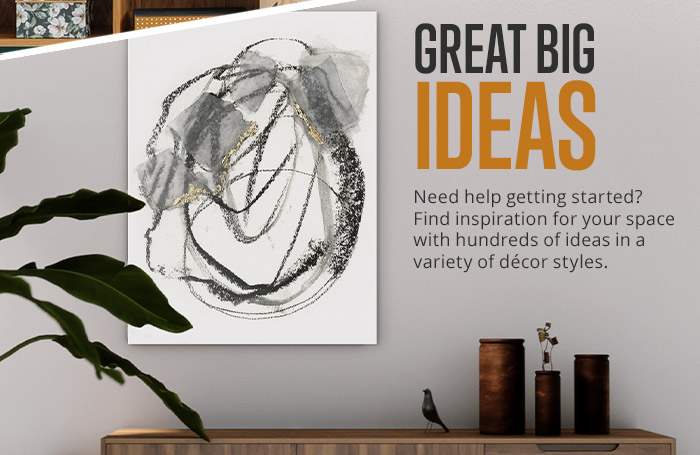 Find inspiration in one of our hundreds of idea rooms!