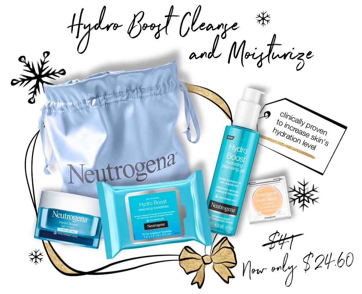 HYDRO BOOST CLEANSE AND MOISTURIZE (Now only $24.60)
