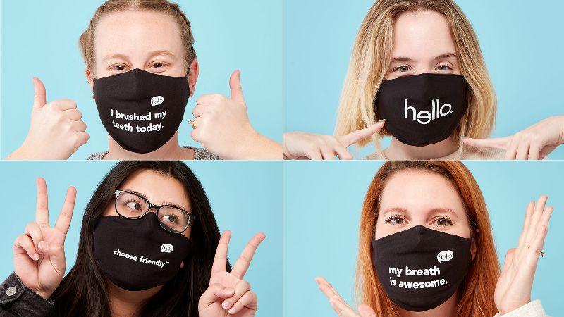 new hello friendly face masks