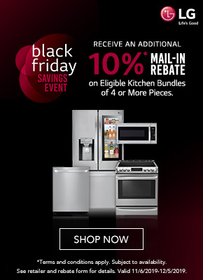 Black Friday Savings event with LG Appliances