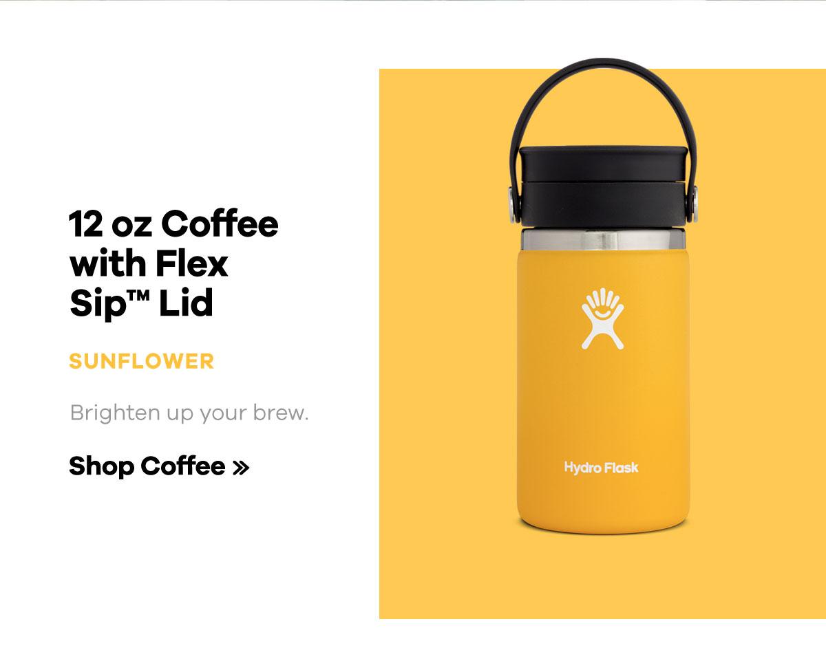 12 oz Coffee with Flex Sip Lid - SUNFLOWER - Brighten your brew. | Shop Coffee >>
