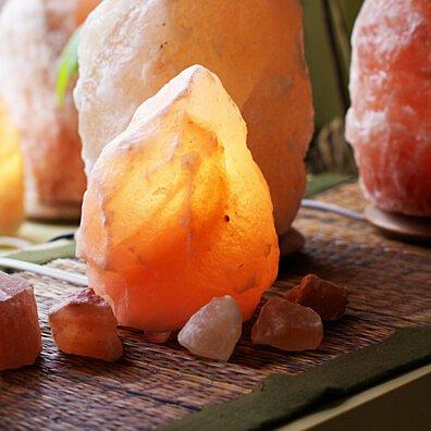 So Well Fair trade Amber Himalayan Salt Lamp ( 2 - 4 lbs. )