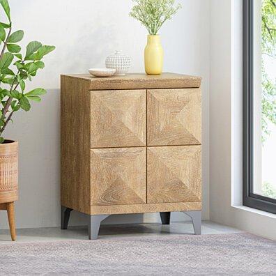 Katherine Handcrafted Boho Mango Wood Cabinet