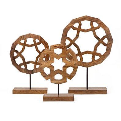 Smartly Designed Jansen Wood Carved Sculptures - Set of 3