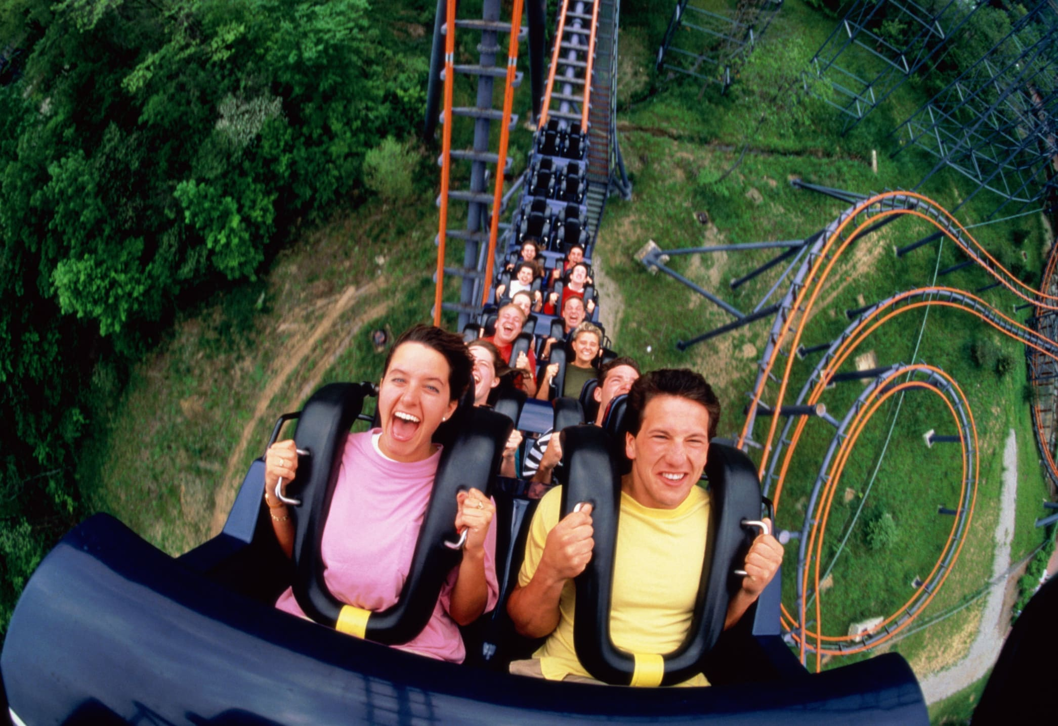 Image result for rollercoaster people