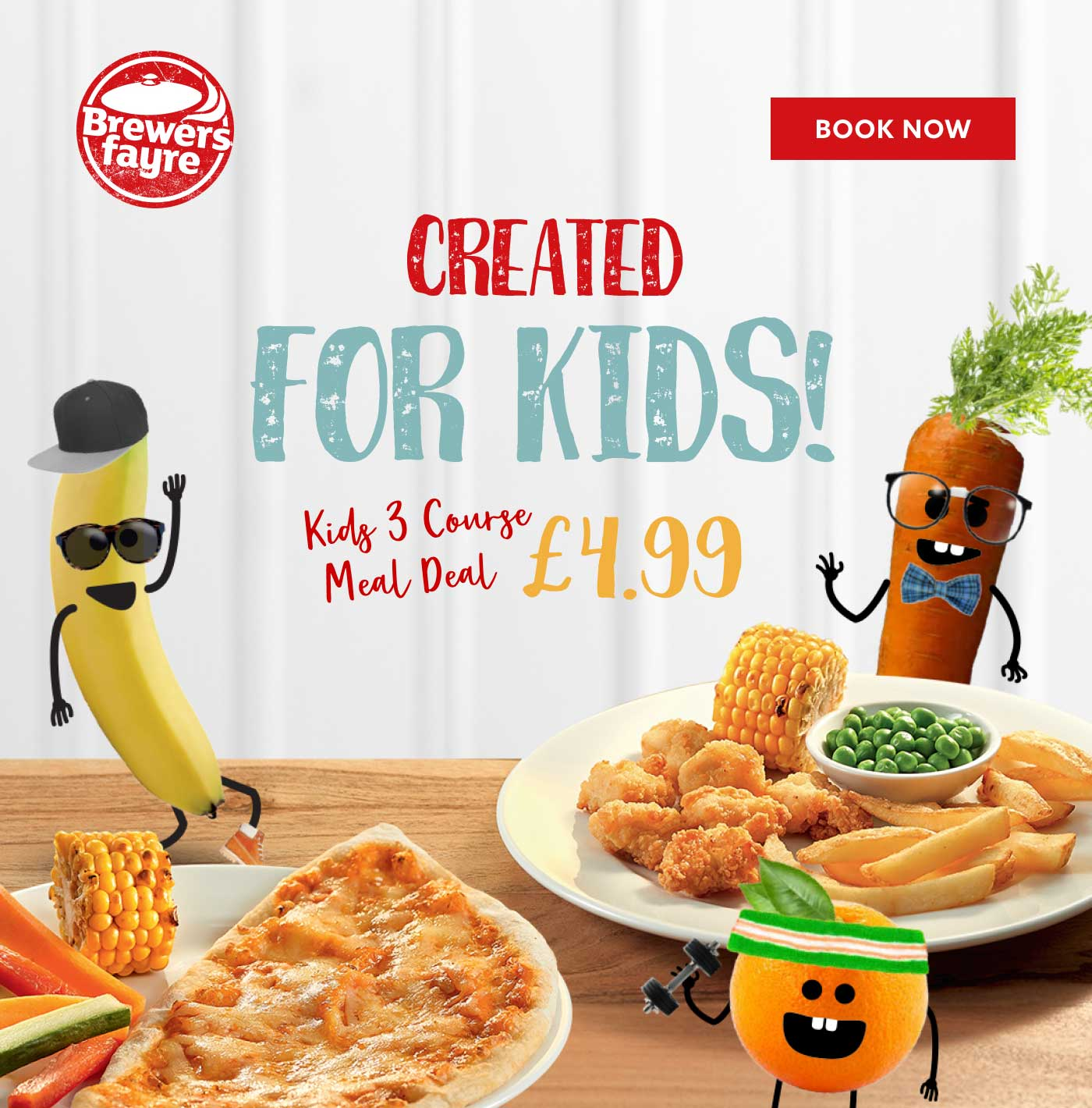 KIDS 3 COURSE MEAL DEAL £4.99