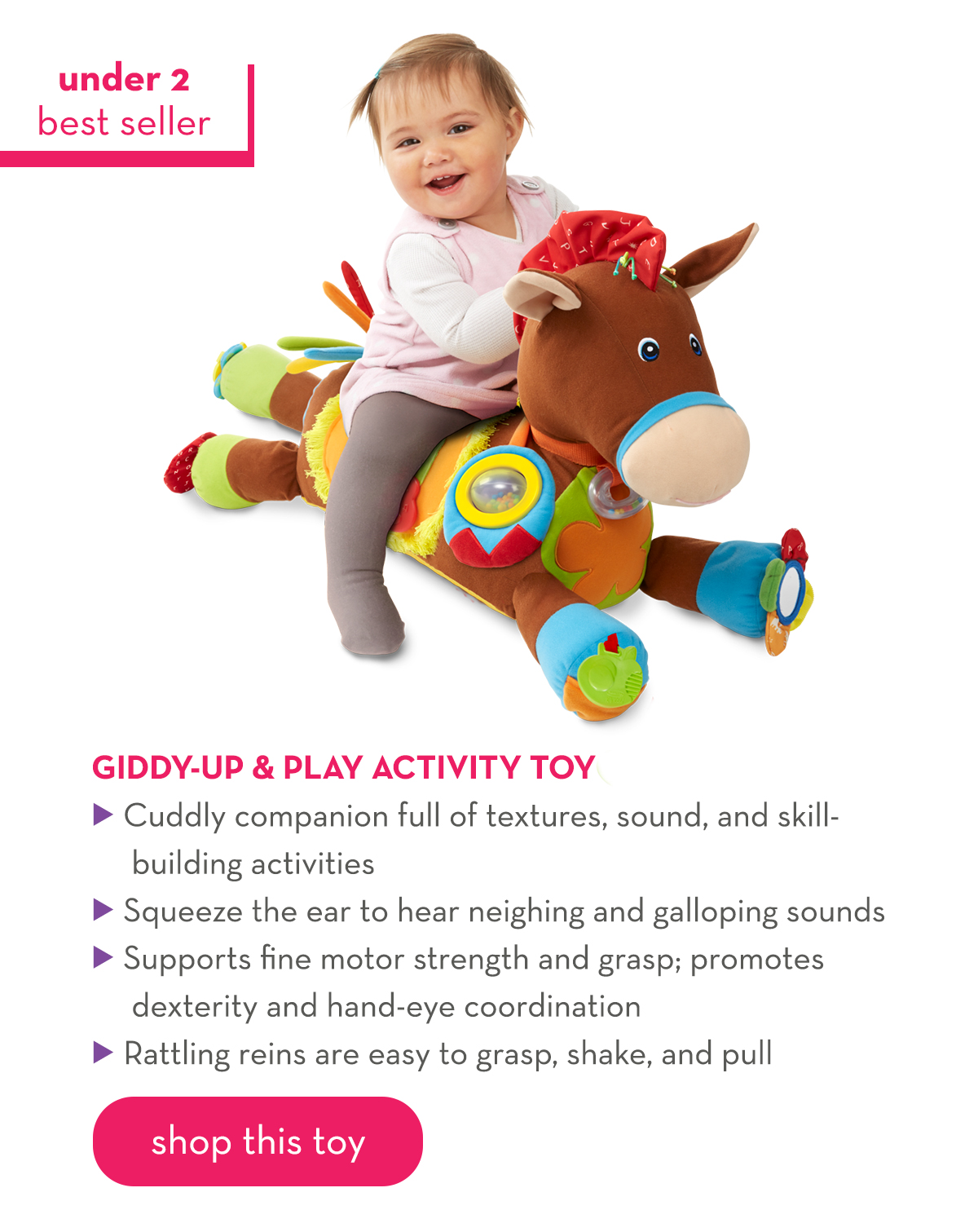 Under 2 Best Seller - Giddy-Up and Play Activity Toy