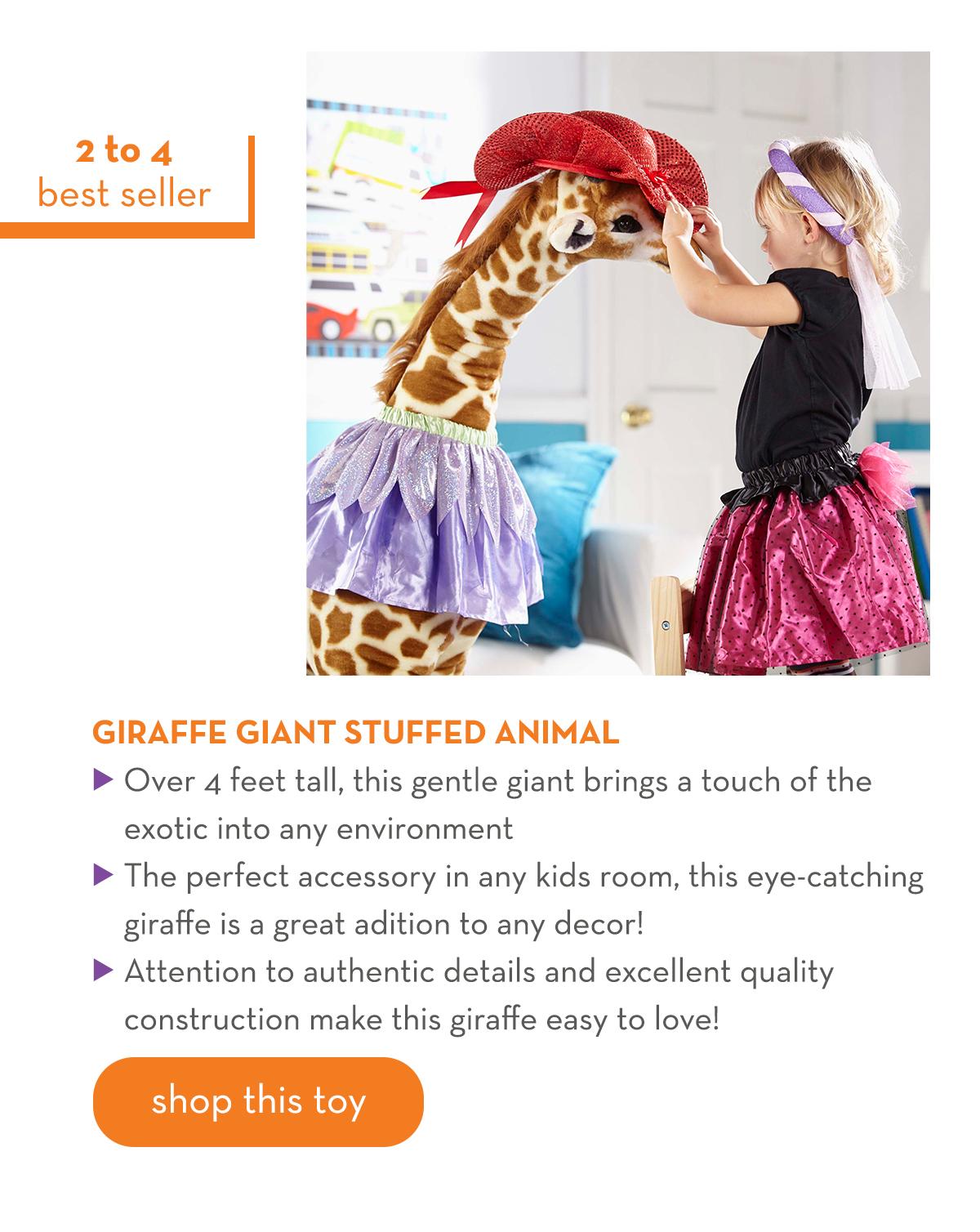 2 to 4 Best Seller - Giraffe Giant Stuffed Animal