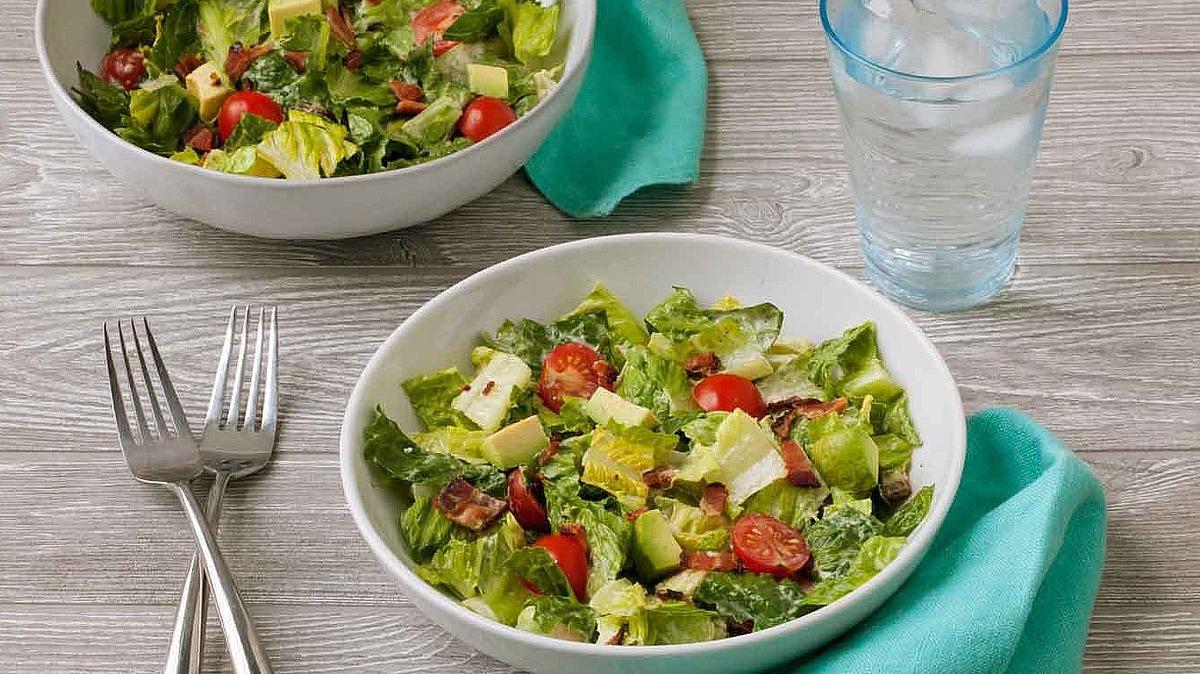 BLT chopped salad with avocado