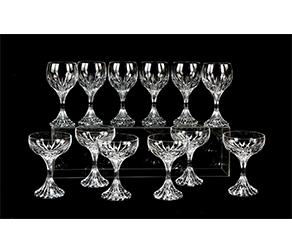 "Set of six Baccarat ""Massena"" Crystal Goblets in original box"