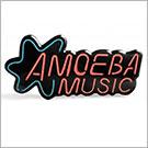 Amoeba Music Blue Neon Logo Pin