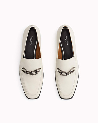 The Aslen Loafer in White.